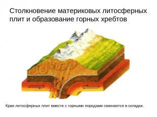 Столкновение материковых литосферных плит и образование горных хребтов Края лито