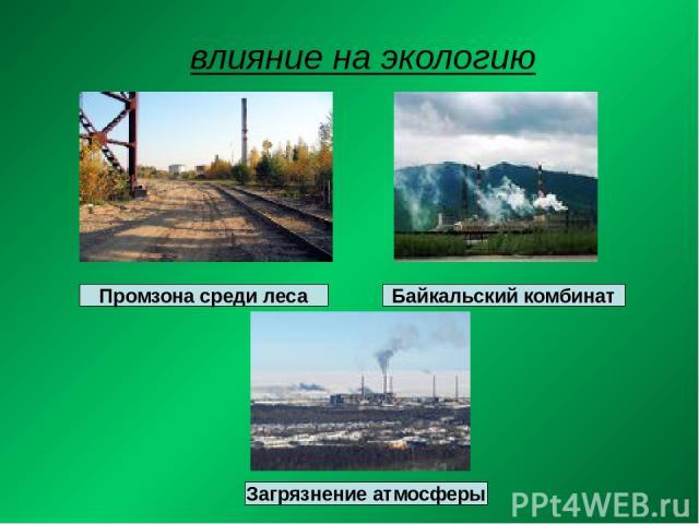 влияние на экологию Промзона среди леса Байкальский комбинат Загрязнение атмосферы