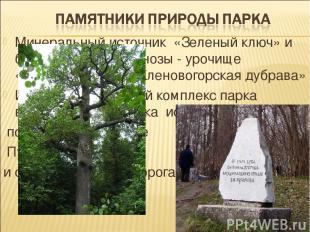 Минеральный источник «Зеленый ключ» и ботанические геоценозы - урочище «Кленовая