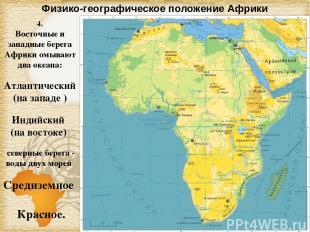 Физико-географическое положение Африки 4. Восточные и западные берега Африки омы