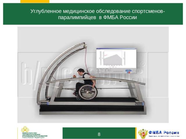 8 Углубленное медицинское обследование спортсменов-паралимпийцев в ФМБА России 1 3