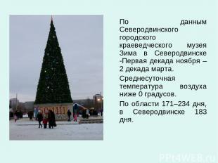 По данным Северодвинского городского краеведческого музея Зима в Северодвинске -