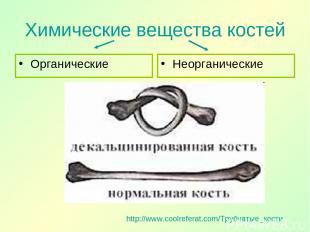 Химические вещества костей Органические Неорганические http://www.coolreferat.co