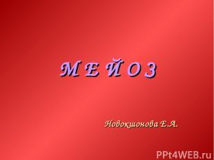 М Е Й О З Новокшонова Е.А.
