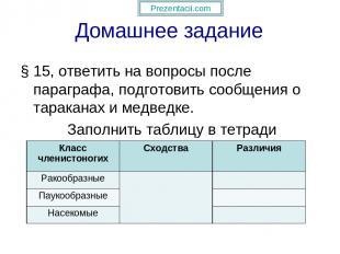 Домашнее задание § 15, ответить на вопросы после параграфа, подготовить сообщени