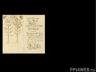 Главные научные труды: 1729 год – «Введение в половую жизнь растений» Рукопись р