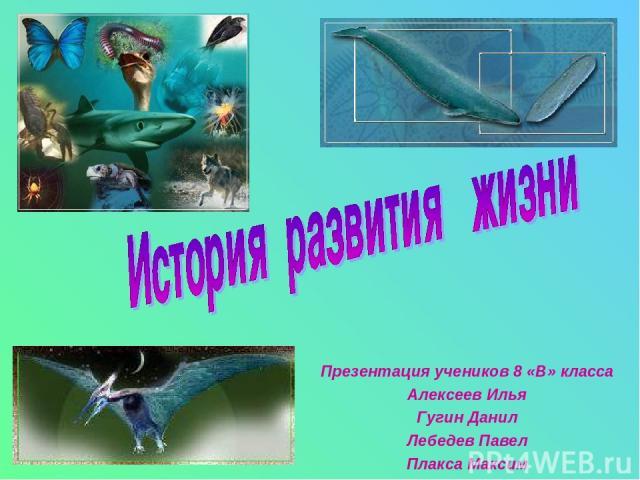 Презентация учеников 8 «В» класса Алексеев Илья Гугин Данил Лебедев Павел Плакса Максим