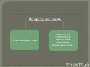 Лабораторные работы Исследовательского плана Практической направленности: Решени
