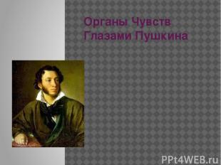 Органы Чувств Глазами Пушкина