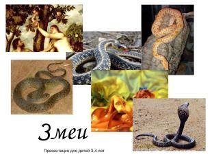 Змеи Презентация для детей 3-4 лет