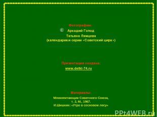 Фотографии: Аркадий Голод С Презентация создана: www.detki-74.ru Млекопитающие С