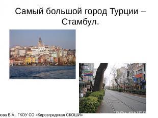 Самый большой город Турции – Стамбул. Карамова В.А., ГКОУ СО «Кировградская СКОШ