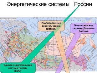 Энергетические системы России Единая энергетическая система России (ЕЭС) Энергет