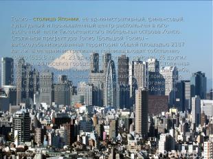 Токио - столица Японии, её административный, финансовый, культурный и промышленн