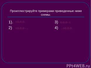 Проиллюстрируйте примерами приведенные ниже схемы. 1). 3) 2) 4) : , , . : , , -