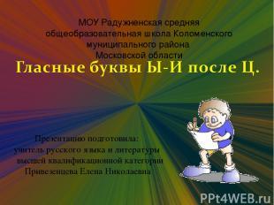 МОУ Радужненская средняя общеобразовательная школа Коломенского муниципального р