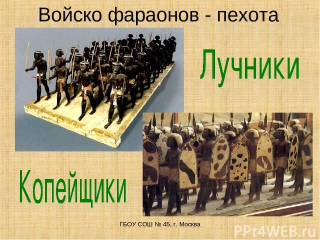 Войско фараонов - пехота ГБОУ СОШ № 45, г. Москва ГБОУ СОШ № 45, г. Москва