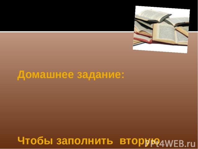 Домашнее задание: Чтобы заполнить вторую колонку таблицы: § 22, при повторении § 20-21.