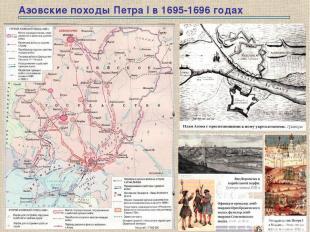Азовские походы Петра I в 1695-1696 годах