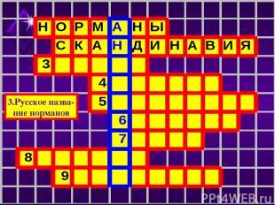 3.Русское назва- ние норманов