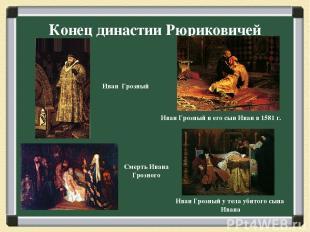 Конец династии Рюриковичей Иван Грозный и его сын Иван в 1581 г. Иван Грозный у