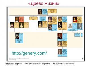Текущая версия - 4.0. Бесплатный вариант – не более 40 человек. http://genery.co