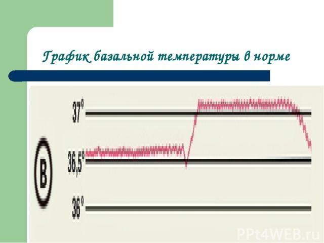 График базальной температуры в норме