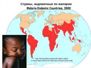 Страны, эндемичные по малярии