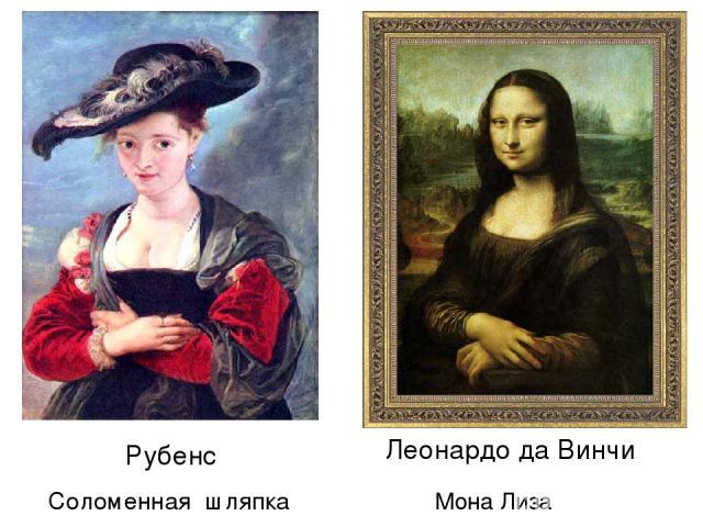Рубенс Соломенная шляпка Леонардо да Винчи Мона Лиза