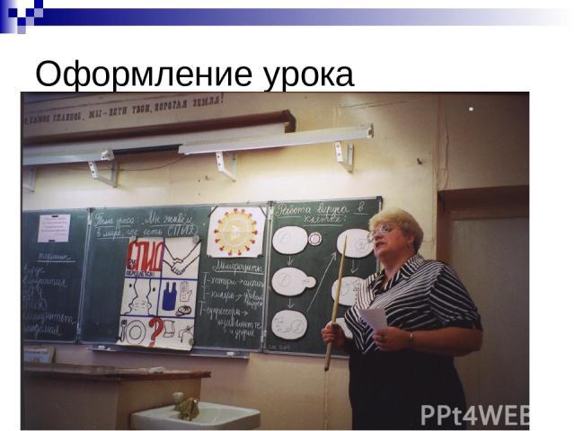 Оформление урока
