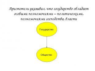 Государство Общество Аристотель указывал, что государство обладает особыми полно