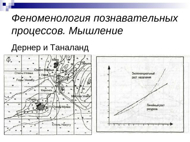Феноменология познавательных процессов. Мышление Дернер и Таналанд