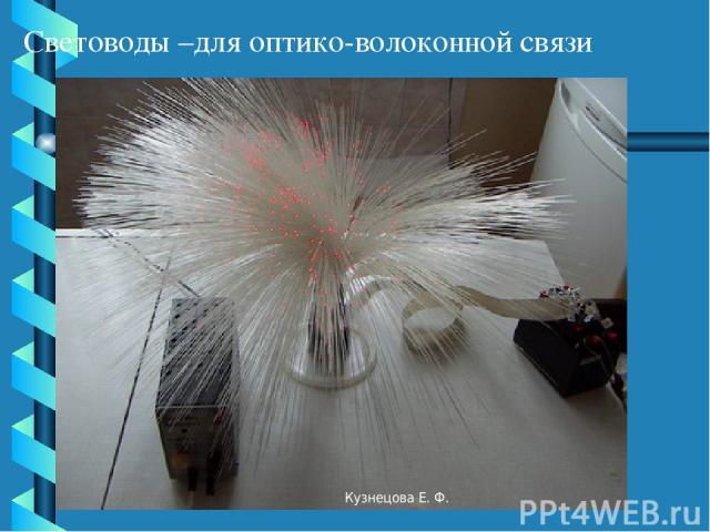 Световоды –для оптико-волоконной связи Кузнецова Е. Ф. Кузнецова Е. Ф.
