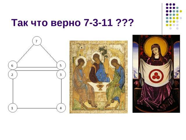 Так что верно 7-3-11 ???