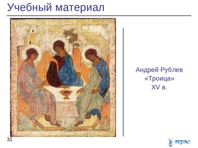 Андрей Рублев «Троица» XV в. Учебный материал *