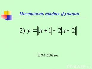 Построить график функции ЕГЭ-9, 2008 год