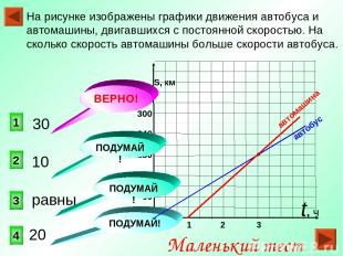0 S, км 300 240 180 120 60 На рисунке изображены графики движения автобуса и авт