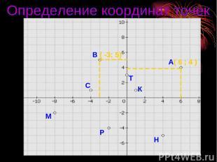 А( 6 ; 4 ) В ( -3; 5) С М Р Н К Т