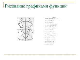Рисование графиками функций