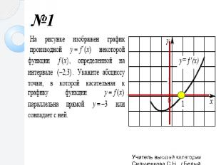 №1 Учитель высшей категории Сильченкова С.Н., г.Белый Тверской обл.
