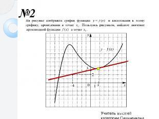 №2 Учитель высшей категории Сильченкова С.Н., г.Белый Тверской обл.