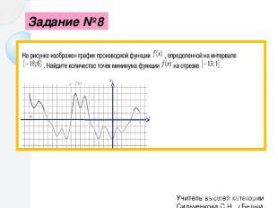 Памятка Чтобы найти угловой коэффициент касательной к графику функции в заданной