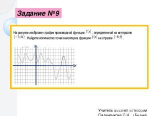 Вспомнить связь функции и её производной поможет рисунок Точки экстремума( макси