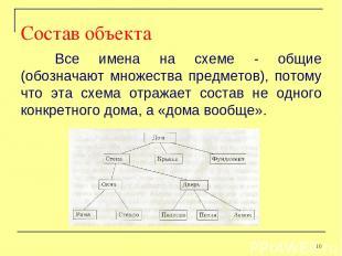 Все имена на схеме - общие (обозначают множества предметов), потому что эта схем