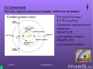 (с) 2001 mez@karelia.ru * Астрономия Методы определения расстояний - небесная ме