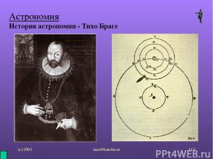 (с) 2001 mez@karelia.ru * Астрономия История астрономии - Тихо Браге mez@karelia