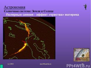 (с) 2001 mez@karelia.ru * Астрономия Солнечная система: Земля и Солнце Полярные