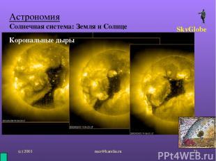 (с) 2001 mez@karelia.ru * Астрономия Солнечная система: Земля и Солнце SkyGlobe