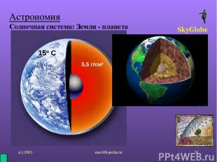 (с) 2001 mez@karelia.ru * Астрономия Солнечная система: Земля - планета SkyGlobe