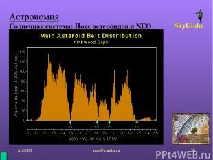(с) 2001 mez@karelia.ru * Астрономия Солнечная система: Пояс астероидов и NEO Sk